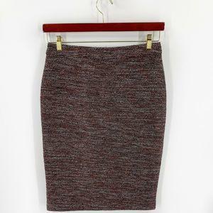 Ann Taylor Tweed Skirt Size 4 Brown Black Straight